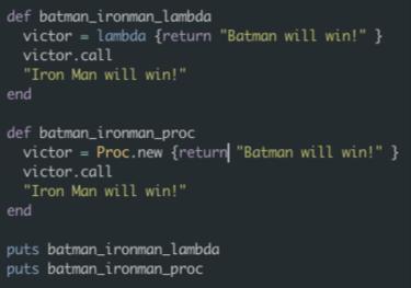 Blocks procs and lambdas